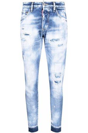 Dsquared2 Senhora Skinny - Acid-wash slim-fit jeans
