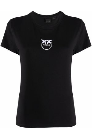 Pinko Logo-embroidered cotton T-shirt