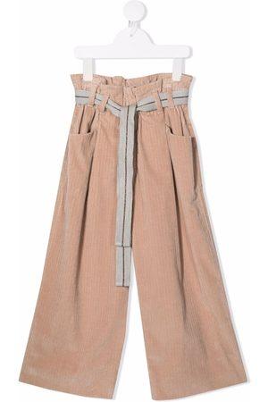 Brunello Cucinelli Paperbag-waist corduroy trousers