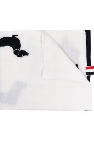 Thom Browne Hector motif wraparound scarf