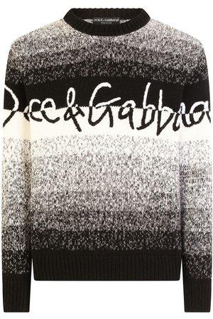 Dolce & Gabbana Striped logo-embroidered jumper