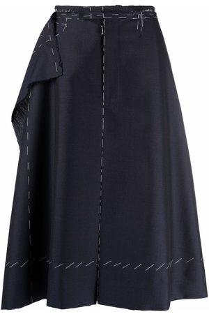 Maison Margiela Raw-layered knee-length shorts