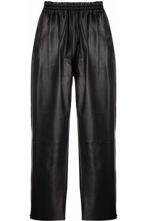 Pinko Straight-leg leather trousers