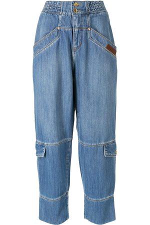 AMAPÔ Vanessa Rozan cargo denim trousers