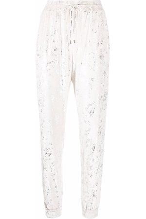 Pinko Foil-print sweat pants
