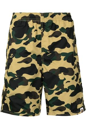 A Bathing Ape Camouflage-print elasticated-waist deck shorts