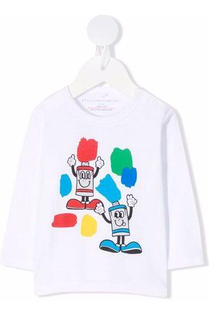 Stella McCartney Painting Friends-print long-sleeve T-shirt