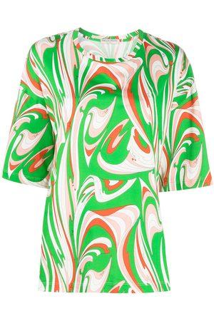 Emilio Pucci Vortici-print cotton T-shirt