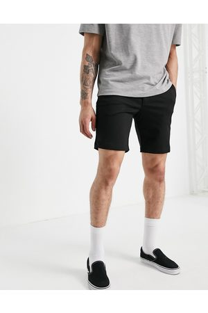 SELECTED Jersey short in black
