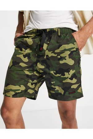 Gramicci Shell packable shorts in camo-Green