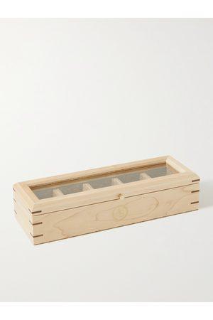 Wolf Homem Relógios - Analog/Shift Flatiron II Maple and Walnut Wood Five-Piece Watch Box