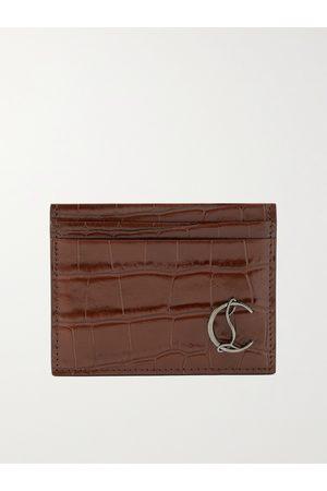 Christian Louboutin Croc-Effect Leather Cardholder