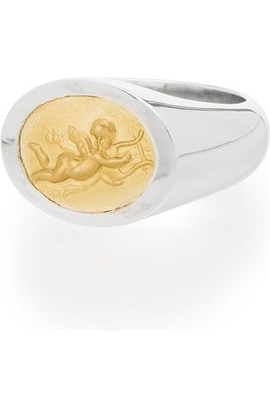 Shola Branson Homem Anéis - Sterling and 14kt gold Cupid ring