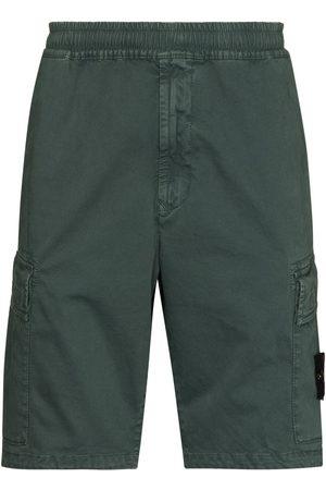 Stone Island Homem Calções - Logo-patch cargo shorts