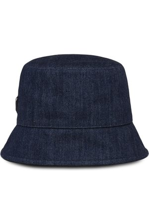 Prada Homem Chapéus - Logo patch denim bucket hat