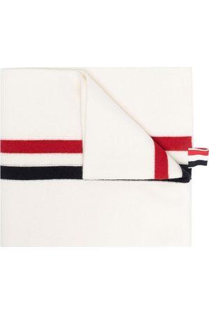 Thom Browne Homem Cachecóis & Echarpes - RWB stripe wool scarf