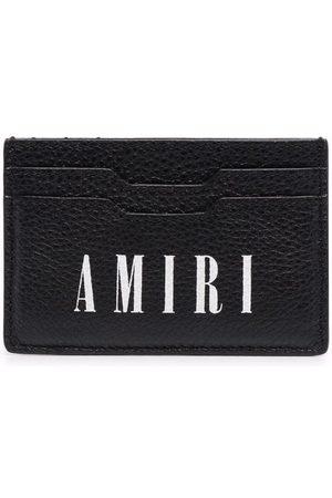 AMIRI Homem Bolsas & Carteiras - Logo-print leather cardholder