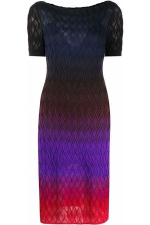 Missoni Senhora Vestidos de Malha - Signature-knit gradient midi-dress