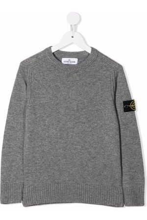 Stone Island Logo-patch knitted jumper