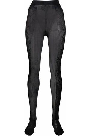 Wolford Senhora Collants & Ligas - X Amina Muaddi floral lace tights