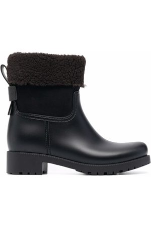 See by Chloé Senhora Botins - Shearling-lined leather ankle boots