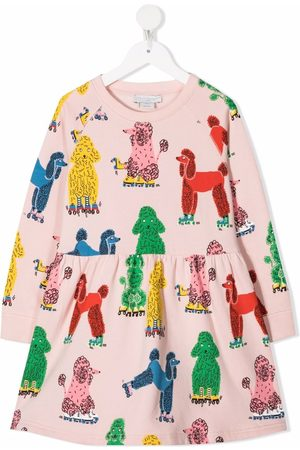 Stella McCartney Menina Vestidos Casual - Doodle Poodles fleece dress
