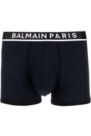 Balmain Homem Boxers - Logo-waistband boxer briefs