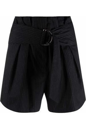 IRO Stripe belted shorts