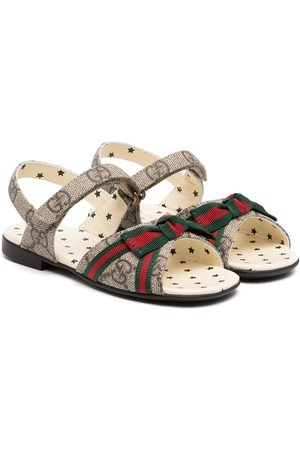 Gucci Web-bow touch strap sandals