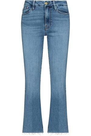 Frame Senhora Bootcut & Boca-de-sino - Le Crop bootcut jeans