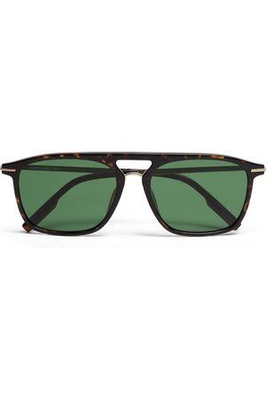 Ermenegildo Zegna Leggerissimo pilot-frame sunglasses