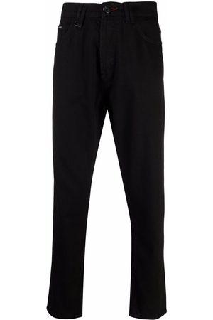 Philipp Plein Logo-patch detail trousers