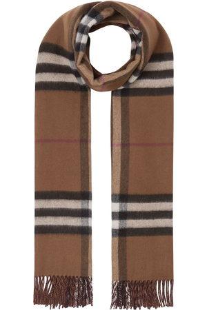 Burberry Cachecóis & Echarpes - Reversible checked cashmere scarf