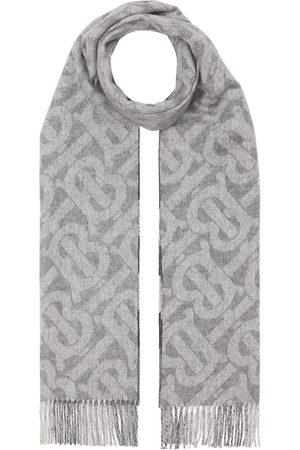Burberry Cachecóis & Echarpes - Reversible monogram-print and checked cashmere scarf