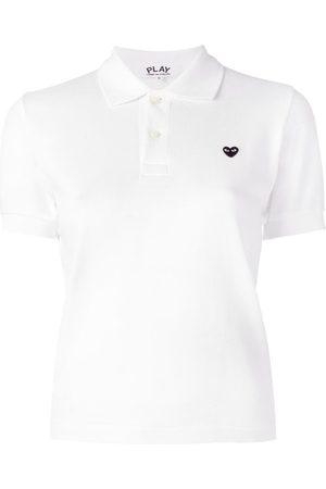 Comme des Garçons Heart patch polo shirt