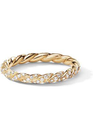 David Yurman Senhora Anéis - 18kt yellow Petit diamond pavé flex ring