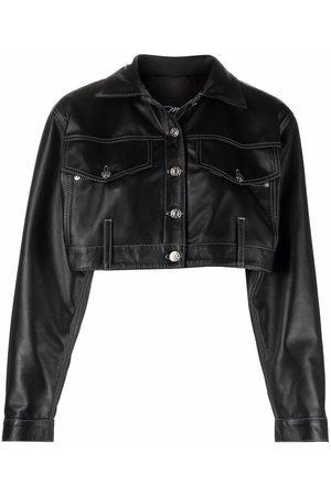 Manokhi Senhora Casacos de Pele - Cropped leather jacket