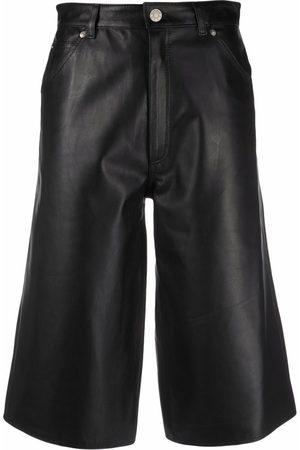 Manokhi Senhora Calças em Pele - High-waist leather culottes