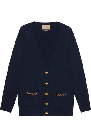Gucci Chain-trim button-front knitted cardigan