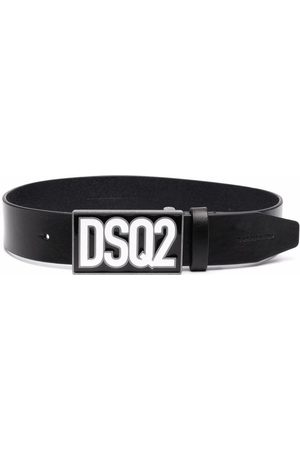 Dsquared2 Kids Logo-plaque leather belt