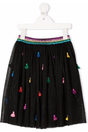 Stella McCartney Embroidered-tassels tulle skirt