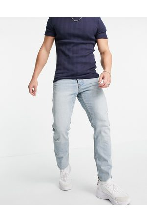 ASOS Cone Mill Denim slim 'American classic' jeans in light wash-Blue