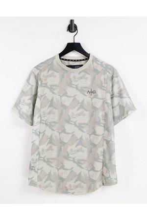 AVANT GARDE Gym spartan t-shirt in light camo-Grey