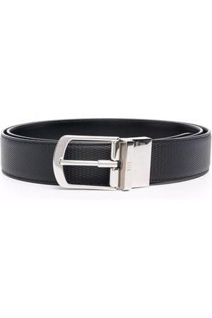 Bally Homem Cintos - Logo detail textured belt