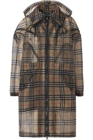 Burberry Vintage Check mesh parka coat