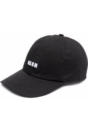 Msgm Homem Chapéus - Logo-print cap