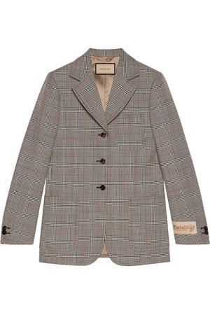 Gucci Check-pattern single-breasted blazer