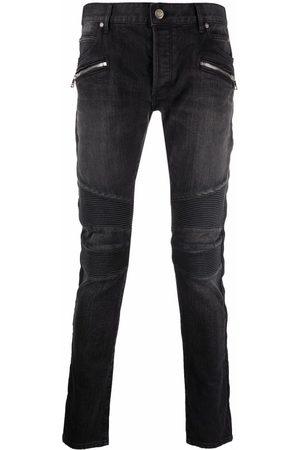 Balmain Ribbed panels slim-fit jeans
