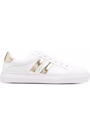 Moncler Senhora Sapatos desportivos - Metallic-stripe leather trainers