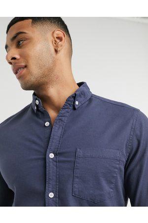 ASOS Slim fit oxford shirt in navy